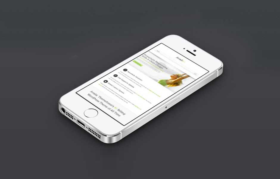 avada theme iphone