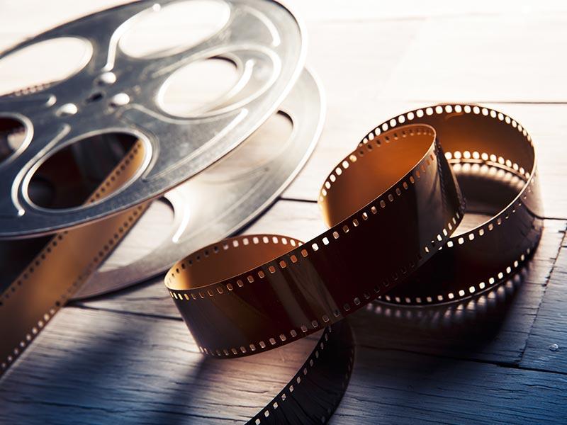 unwound film reel